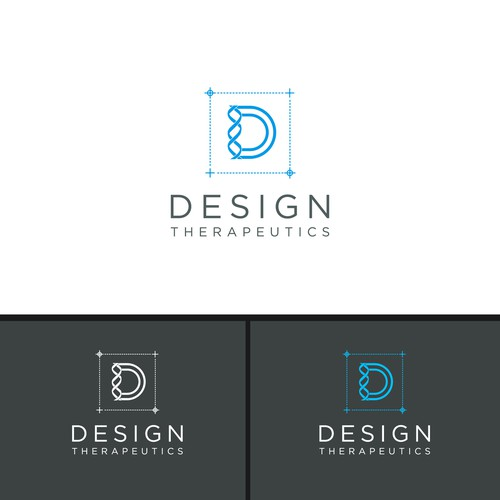 Modern logo for a biotech company focused around design concepts