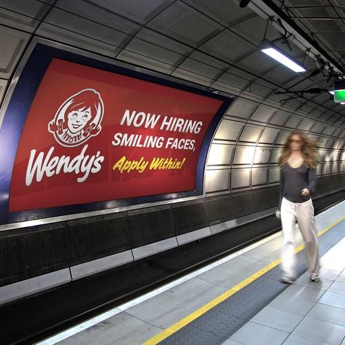 Wendy's Now Hiring Banner