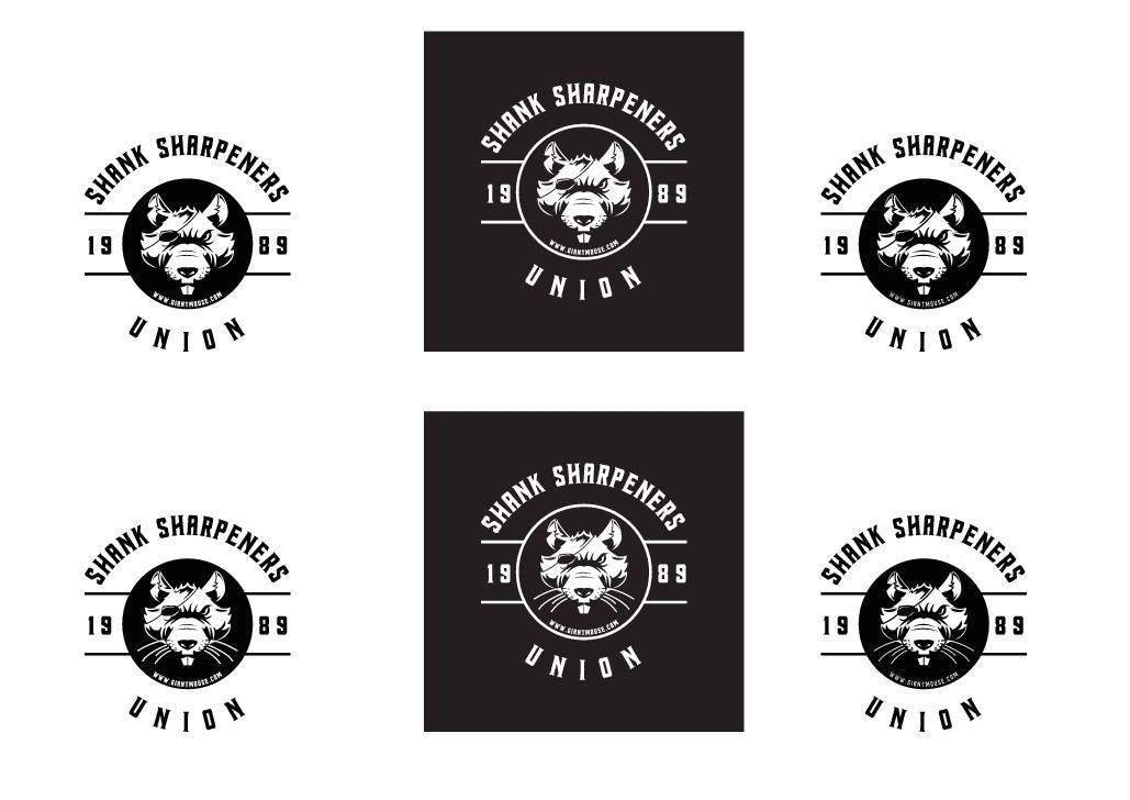 Sticker design for knife brand