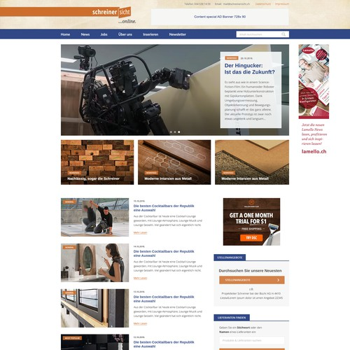 Online-Portal für Schreiner