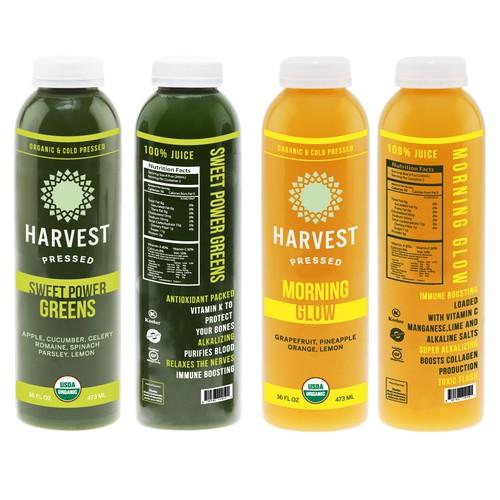 Harvest pressed