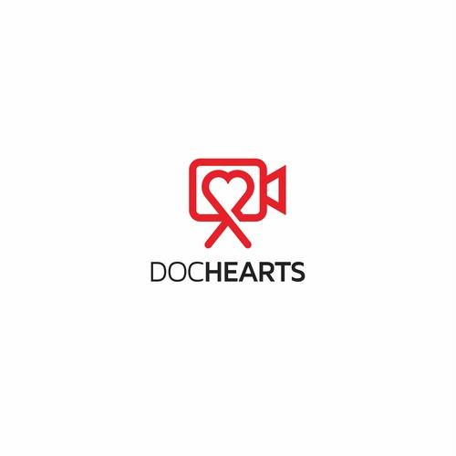 Clean and Crisp logo design for Doc Hearts
