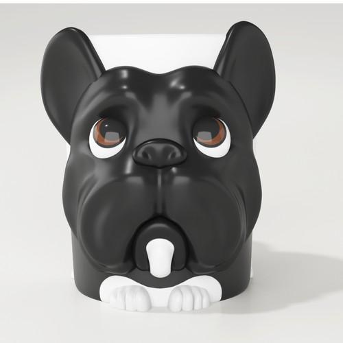French Bulldog Mug Design