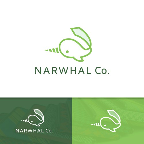 Line logo concept for NARWHAL Co.