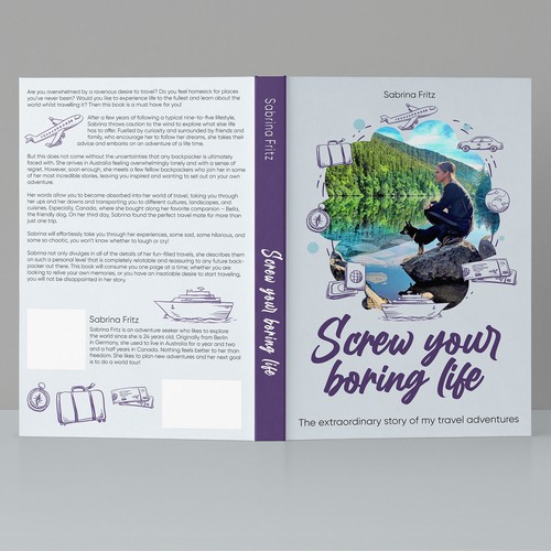 """Book cover """"Screw your boring life"""""""