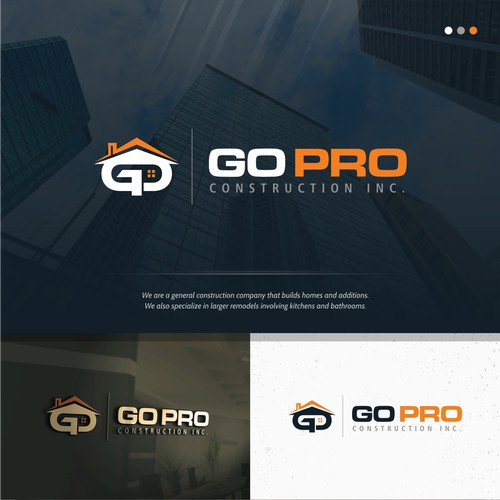 Bold logo concept for Go Pro Construction Inc.