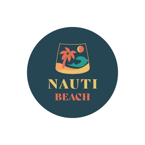 Nauti Beach - Coconut Rum Brand Logo