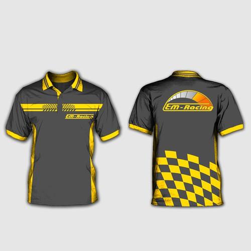 Erstelle ein Poloshirt im Motorsport/Racing Look