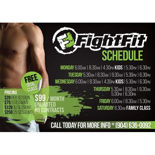 FightFit® Schedule