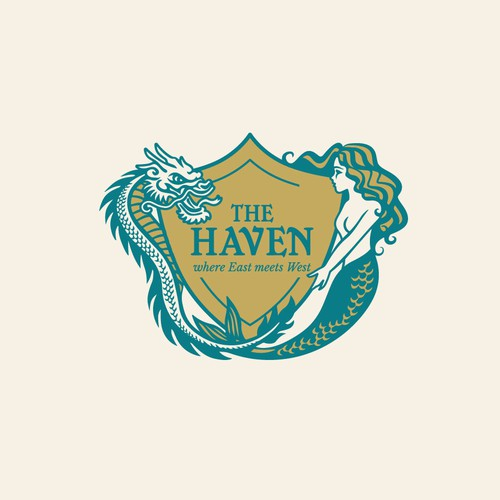 A regal logo for a wellness spa: The Haven