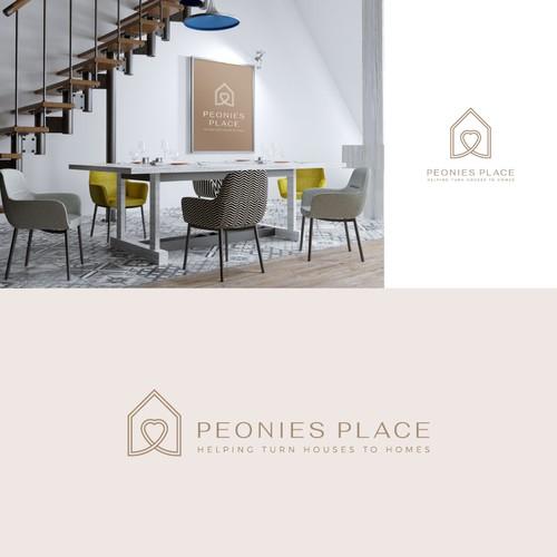 Peonies Place Logo Design