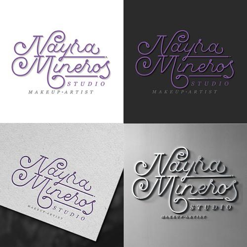 Custom monoline script logo for a makeup artist