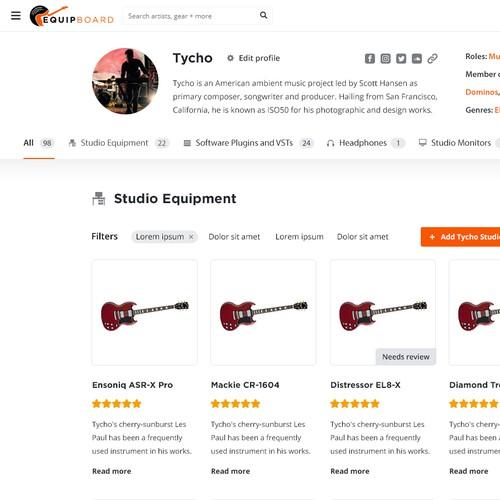 Equipboard website