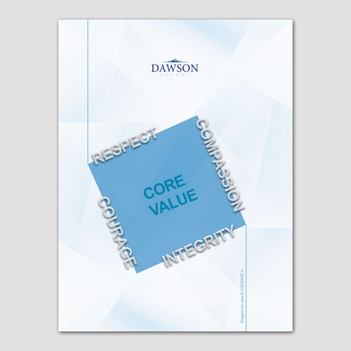 Dawson School core value poster