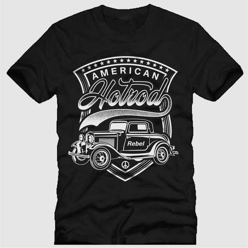 Classic Car T shirts Design