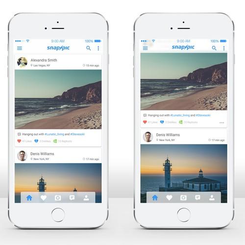 Photo app design