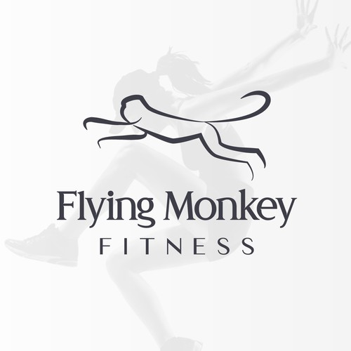[ Available For Purchase ] -- declined logo proposal for Flying Monkey Fitness