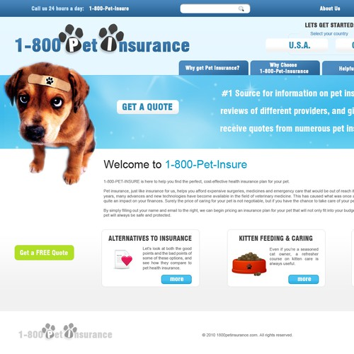 1-800-PET-INSURE - In Need of a Great Designer