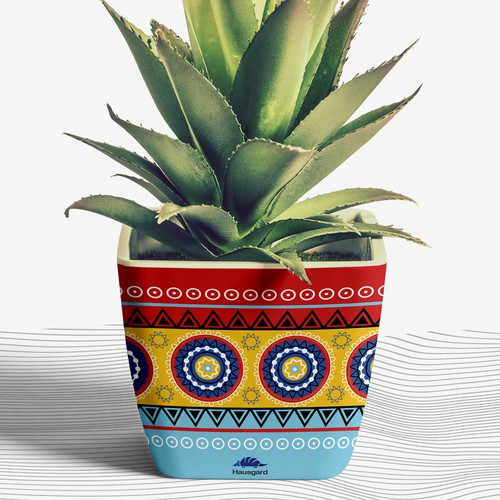 Vibrant Flowerpot ornamental design