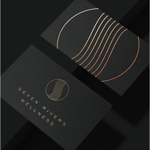 winner brand identity pack for a wellness resort.