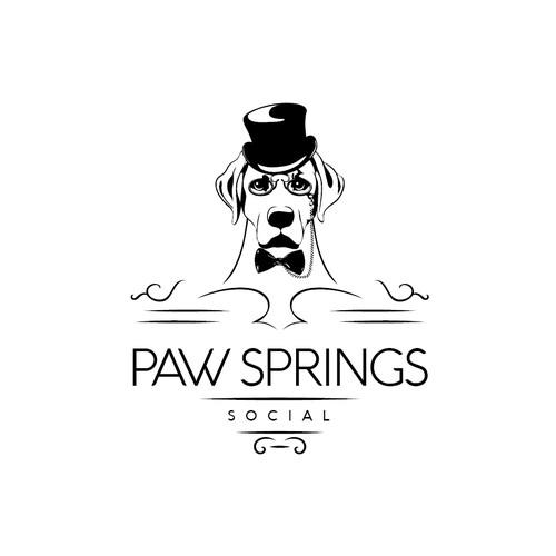 Logo for luxury dog-park located in Las Vegas.