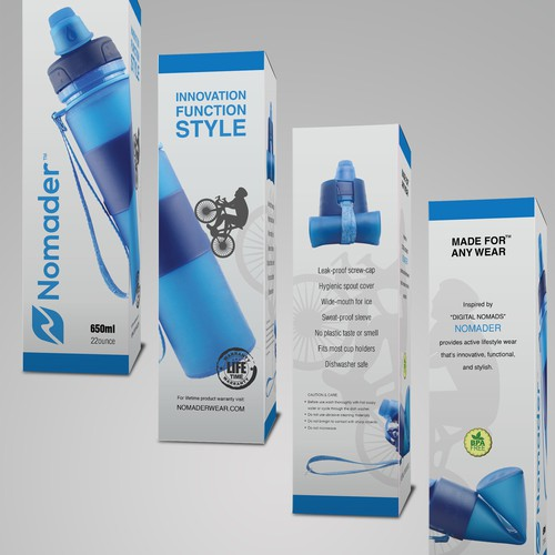Packaging for soprts utility bottle