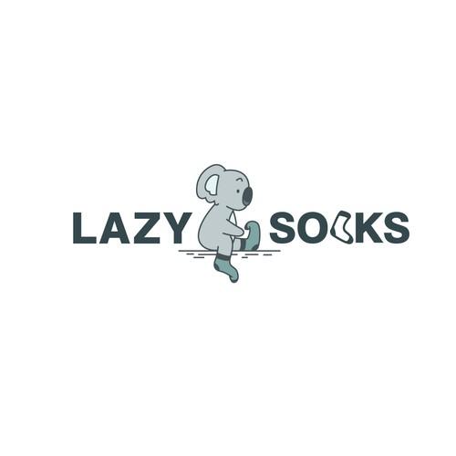Minimalist Elegant Cartoon Logo for Lazy Socks