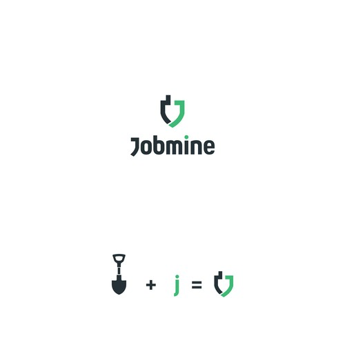 Clever logo design for a job matching app