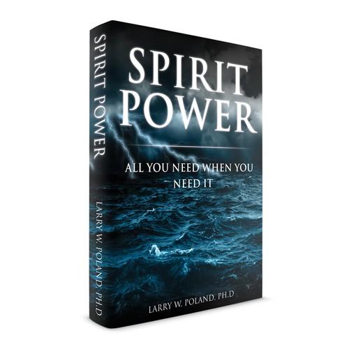 """Spirit Power"" Christian Book Cover"