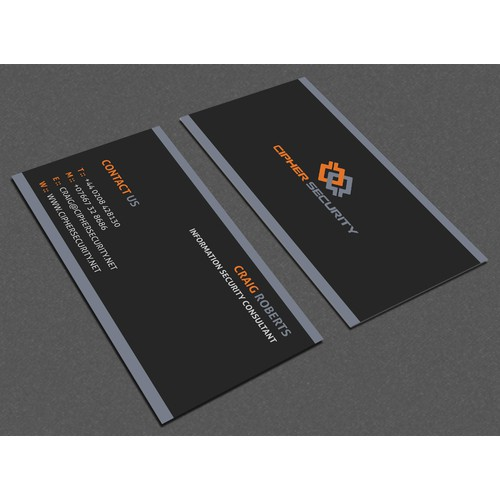 Winning business card design is needed for Cipher Security. Are you that winner ?