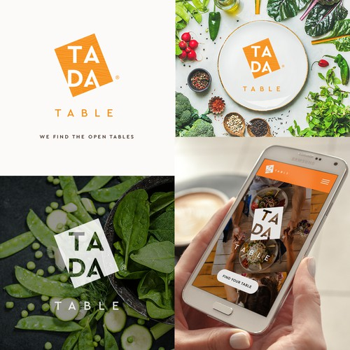 TADA Table app logo design