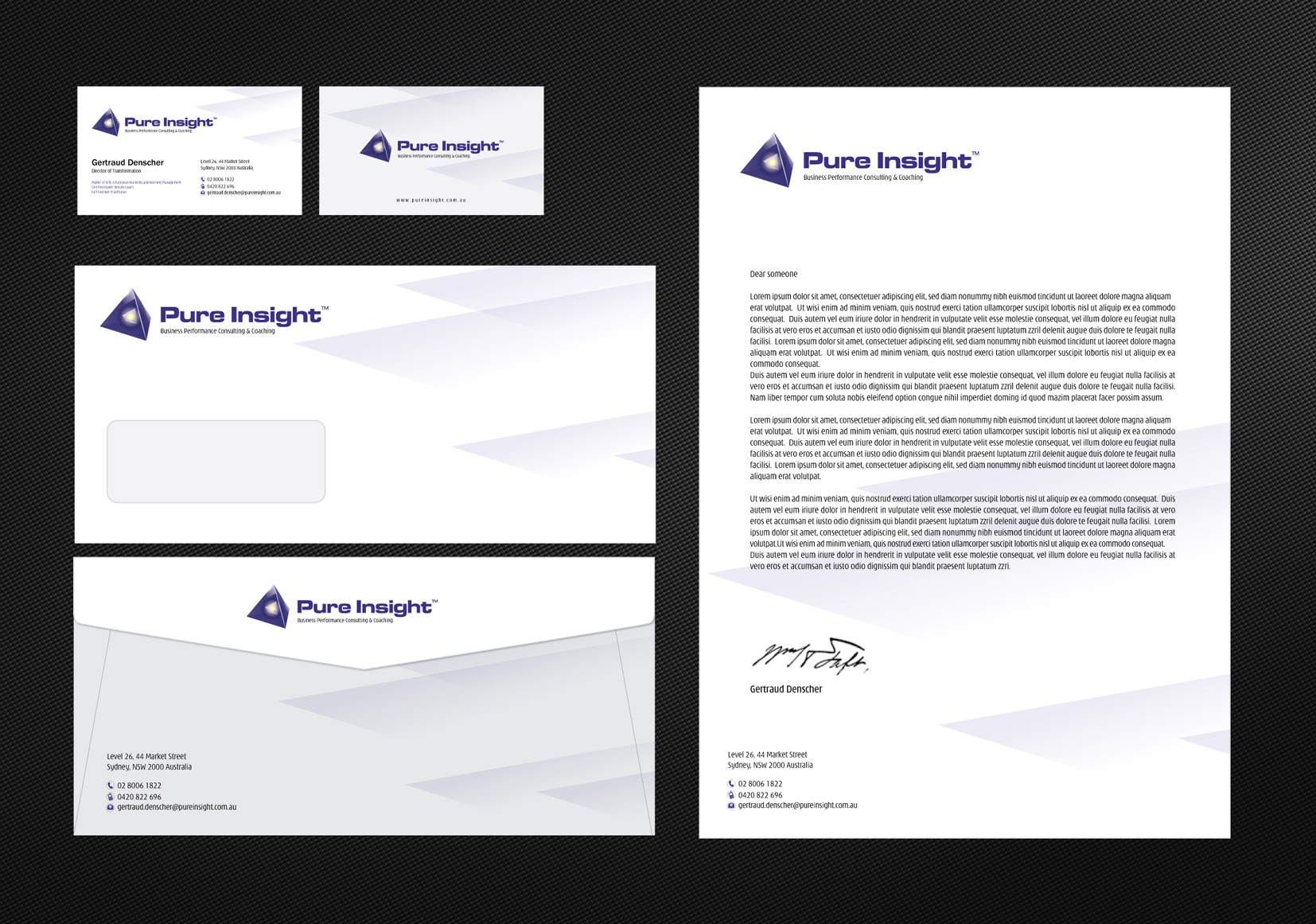 Help Pure Insight with a new stationery