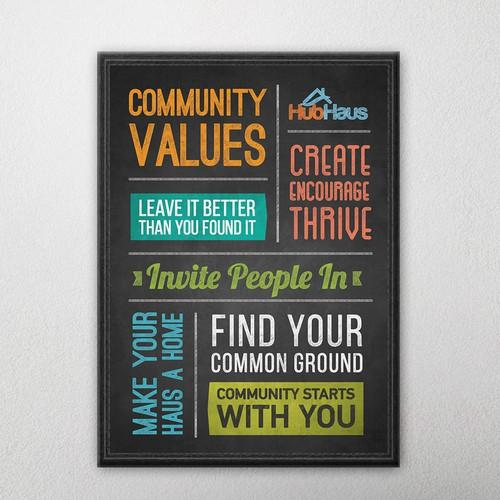 Community-driven poster