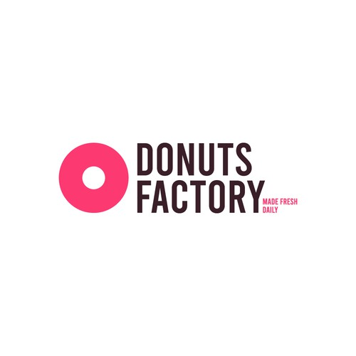 Simple yet bold logo for an donut shop