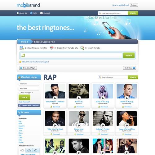Create the next website design for mobiletrend.net