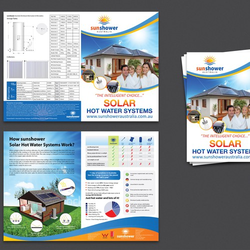 New brochure design wanted for Sunshower Australia