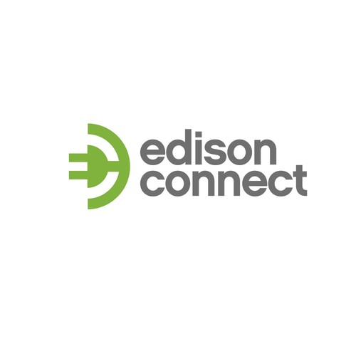 Help our company name is edison connect so just the letters ec (all in lower case) with a new logo and business card