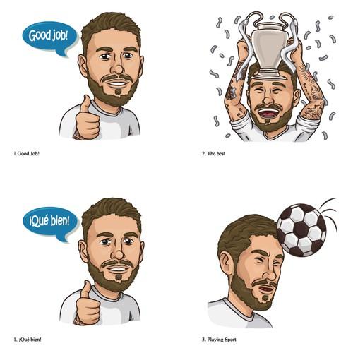 Sergio Ramos stickers