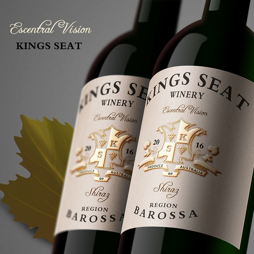 Wine Label for Kings Seat Wine