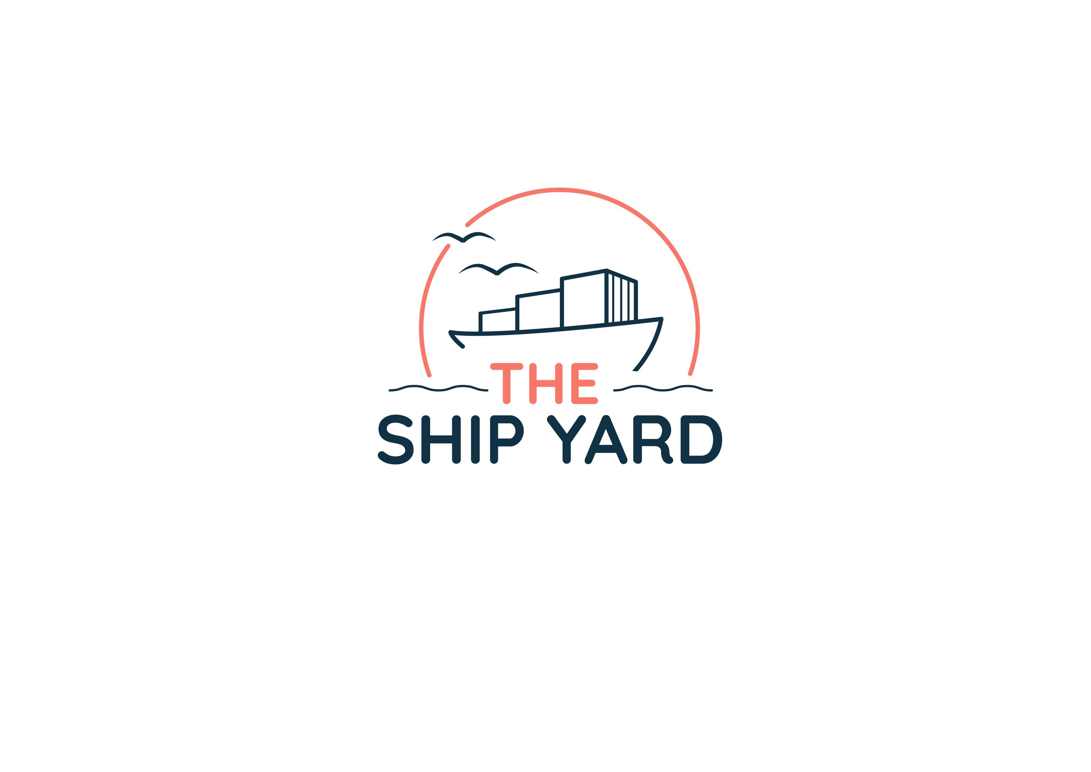 Modern nautical logo for outdoor public market in coastal Florida town.