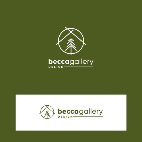 "Line concept for ""becca gallery design"" interior design firm"