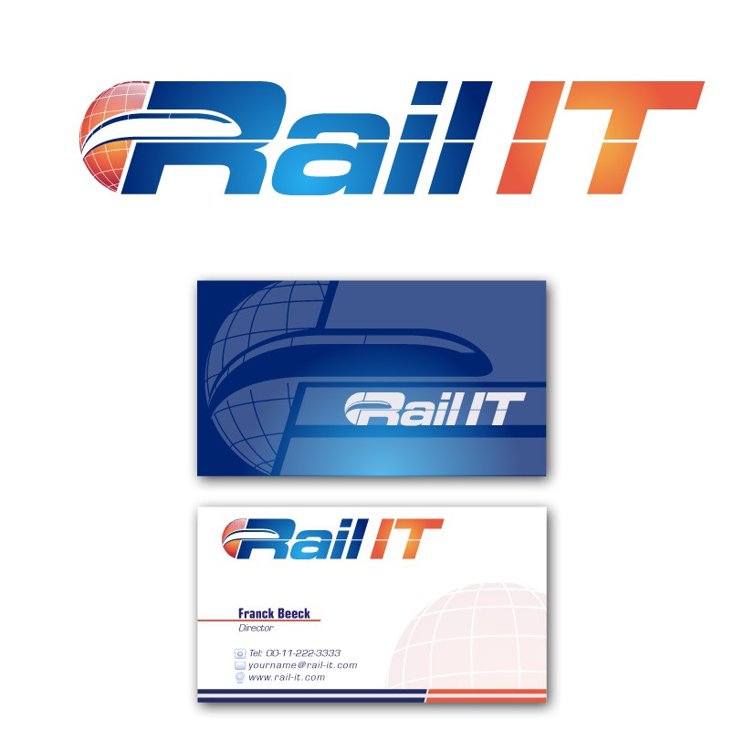 logo and business card for Rail IT