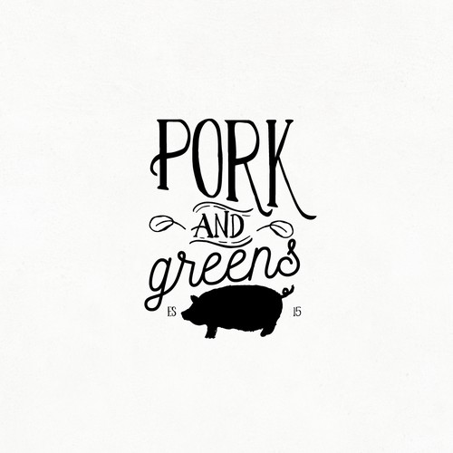 PORK AND GREENS LOGO