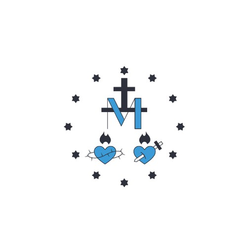 Logo for a catholic school