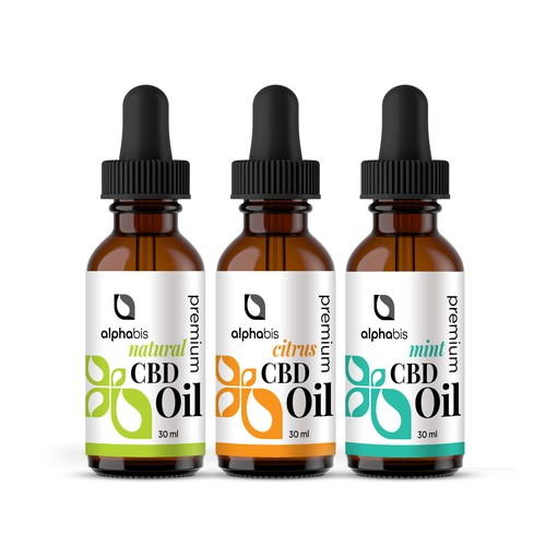 Natural concept for CBD oil product label