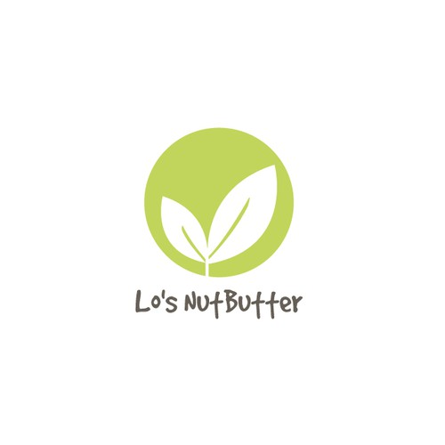 Organic logo/emblem for healthy and nutritious nut butter