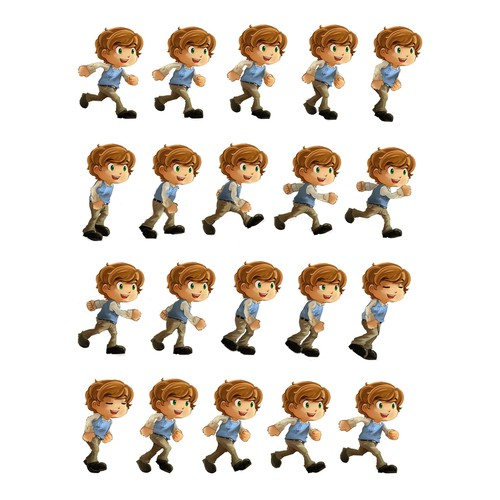Design Sprite Sheet for Puzzle-Adventure Game Character!