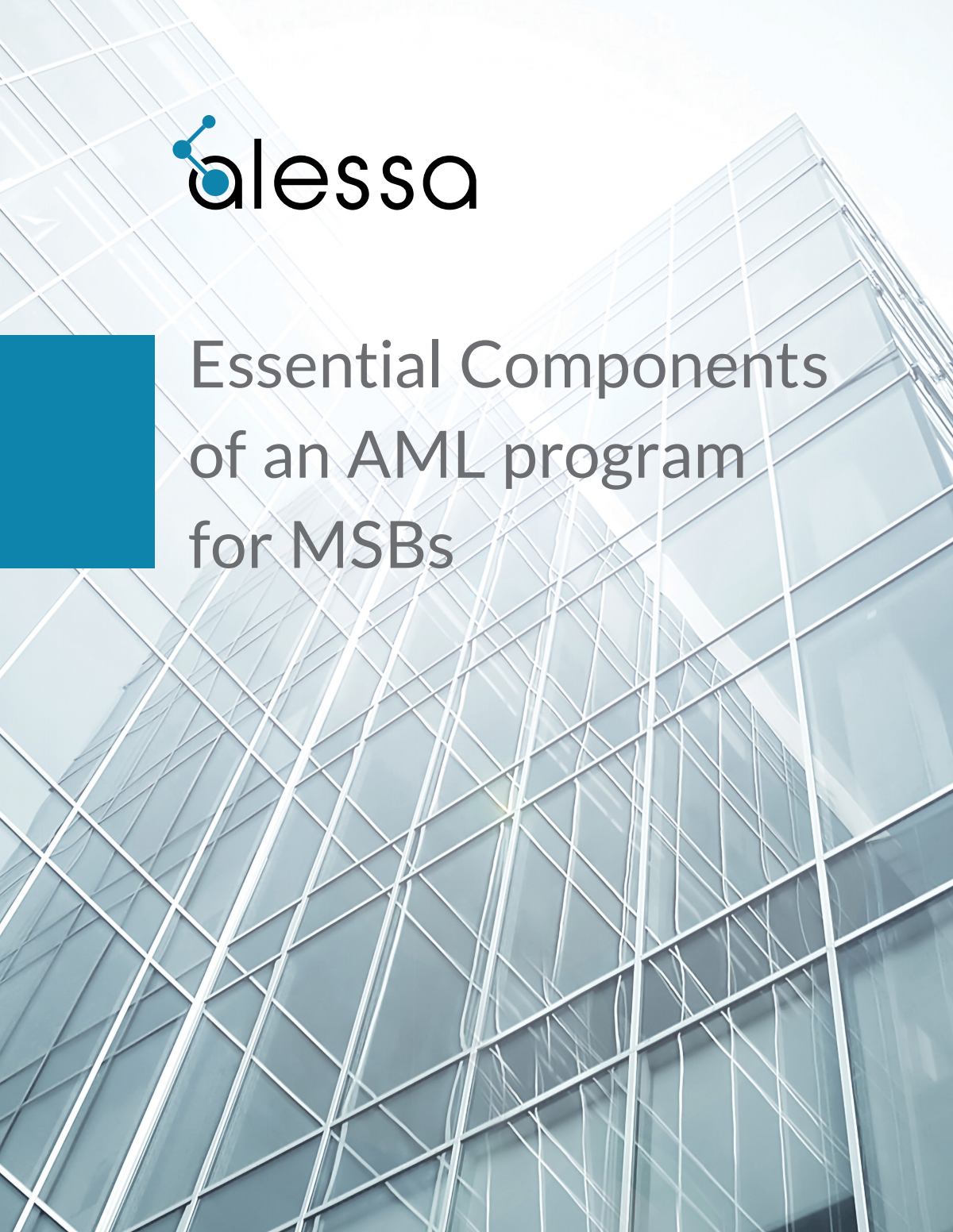 """""""Essential Components of an AML program for MSBs"""" - Design new Alessa format"""