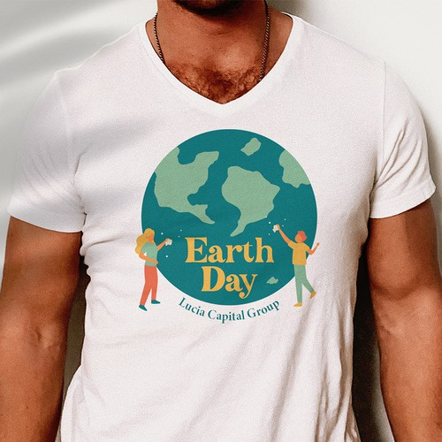 Fun retro t-shirt for our upcoming Earth Day cleanup event
