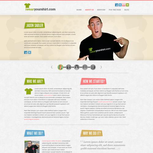 IWearYourShirt.com Web Design